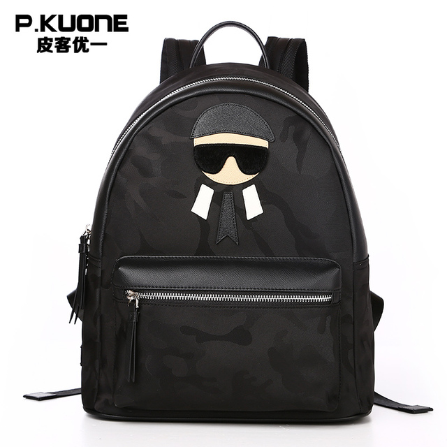 P.KUONE Brand Famous Designer Camouflage Cool Backpack Men Printing Laptop  Backpack Male Teenager School bag Backpack sac a dos 8010769ca39ed