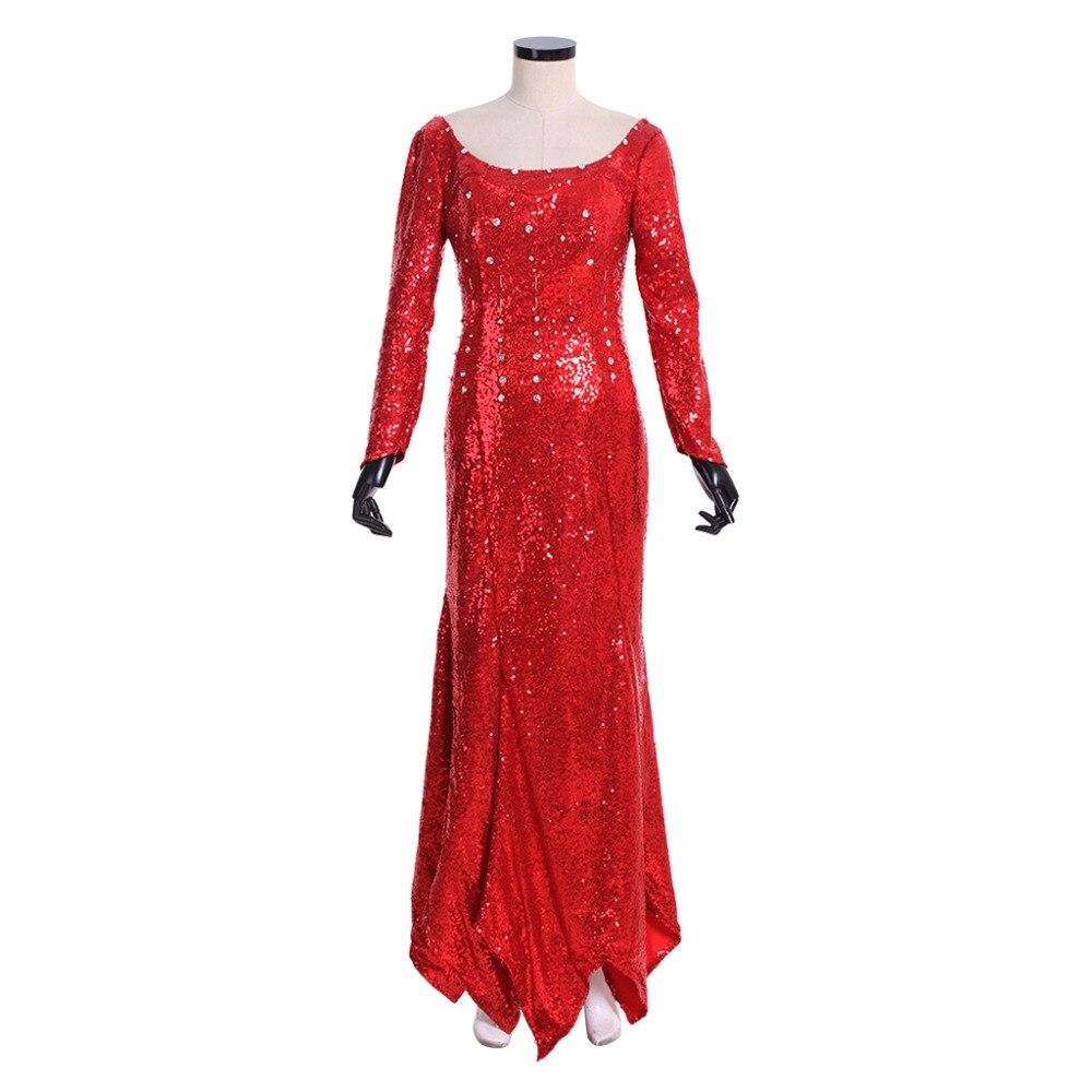 Cosplaydiy Custom Made Elsa Princess Red Fancy Party Dress Princess Mermaid Ariel Red Dress Costume Any Size L320