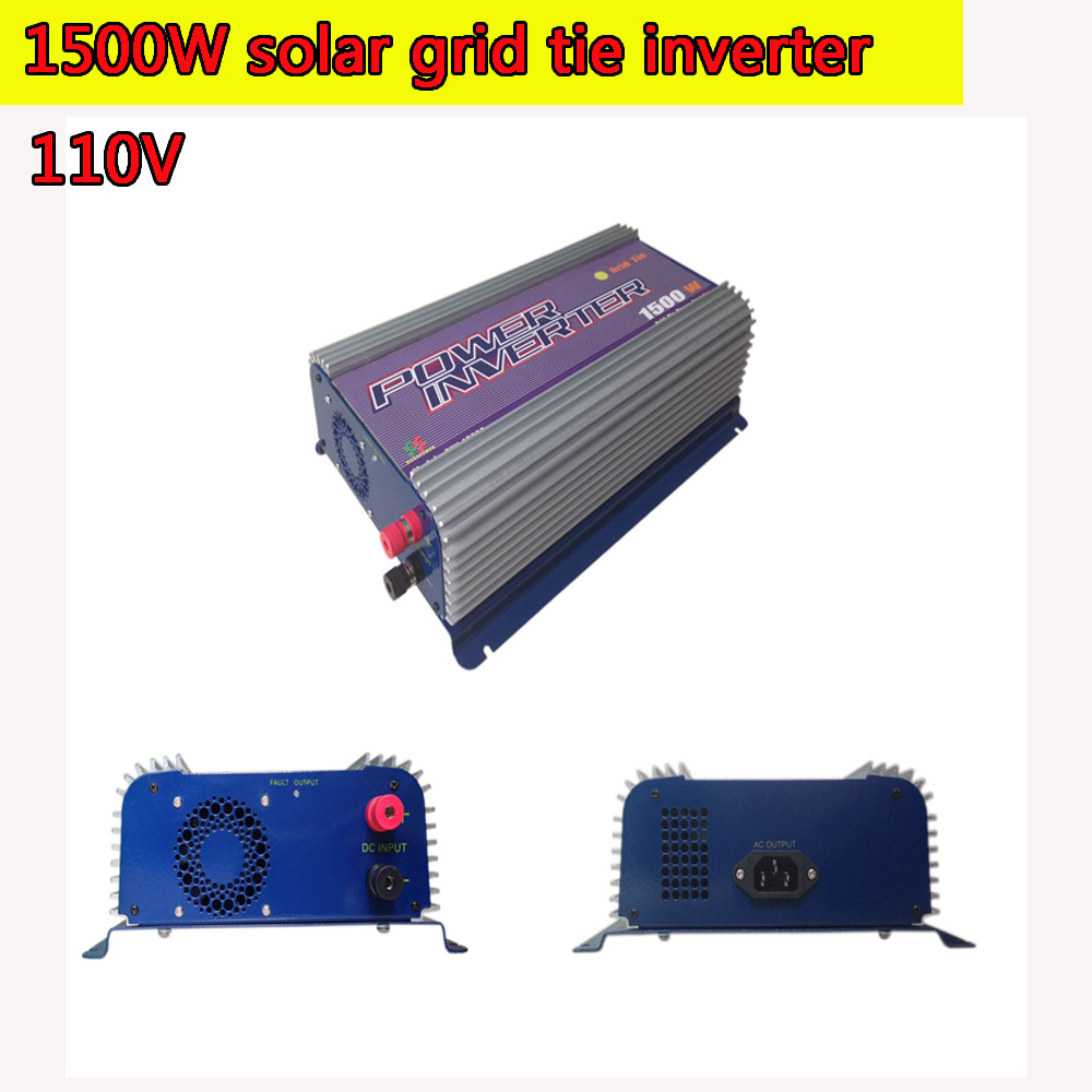 1500W Grid Tie Power Inverter 110V Pure Sine Wave DC to AC Solar Power Inverter MPPT Function 45V to 90V Input High Quality 300w solar grid on tie inverter dc 10 8 30v input to two voltage ac output 90 130v 190 260v choice