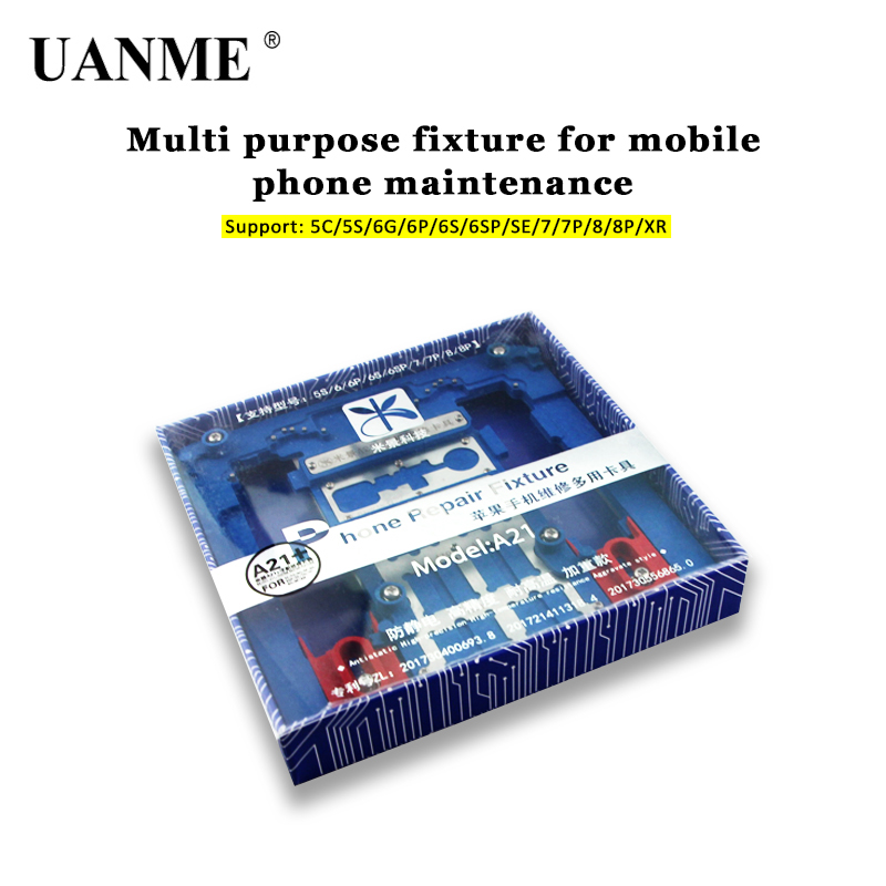 UANME Multi Mobile Phone Repair Board PCB Holder For iPhone XR 8 8plus 7 6 6s Plus 5S For A7 A8 A9 A10 Logic Board Chip Fixture newest circuit board pcb holder jig fixture work station for iphone 8 7 6sp 5s logic board a8 a9 a10 chip repair tool
