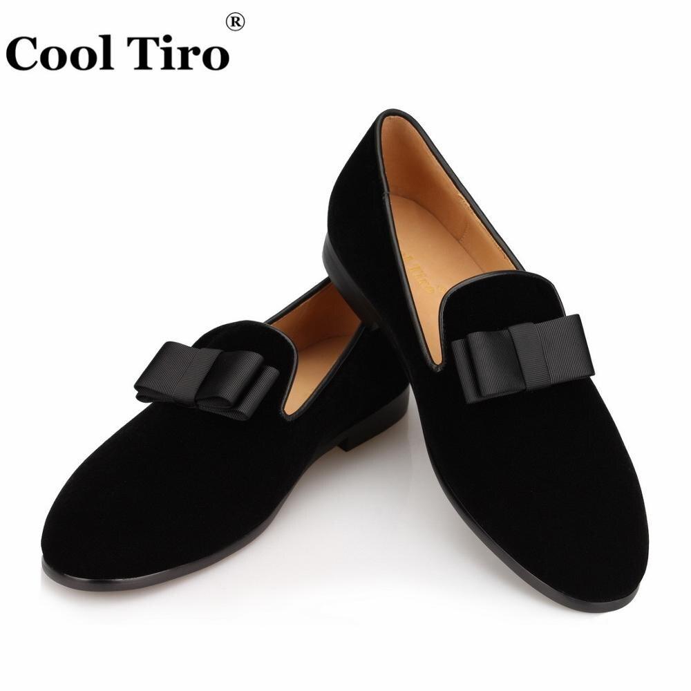 3747109a93 Cool Tiro hombres zapatos de terciopelo moño mocasines hombres zapatillas  fumar mocasines hombre pisos boda hombres vestido zapatos Casual punta  redonda en ...