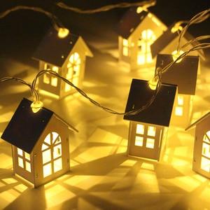 Image 2 - 2M 10pcs LED USB/סוללה כוח חג המולד עץ בית סגנון פיות אור Led מחרוזת לידה חתונת זר חדש שנה דקור עבור בית