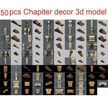 50 шт/компл декоративная 3d модель stl рельеф для формата ЧПУ