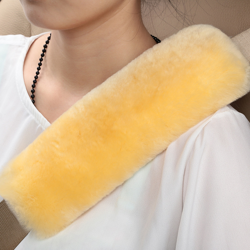 2017 2 pcs car styling australia sheepskin seat belt pad cover girl car accessories for winter shoulder pad neck protector