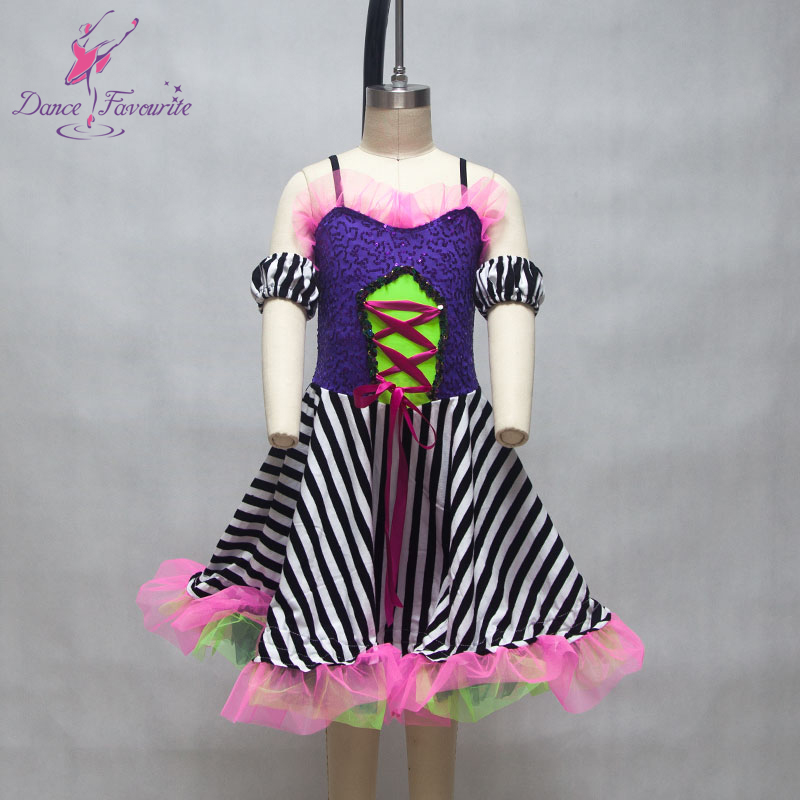 Can Can Dance Costumes Women & Girl Stage Performance Ballet Costume Jazz/Tap Dance Wear