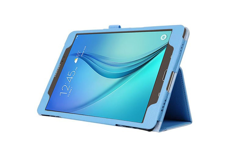 For Samsung Galaxy Tab A 9.7 SM-T550 SM-T551 SM-T555 T550 Case Folding Flip Stand PU Leather Cover Shell Stand Case + film + pen
