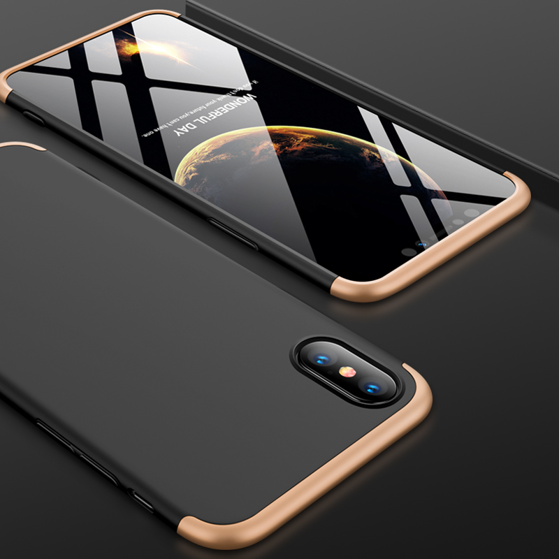 For iPhone XS Max 6.5inch Case 360 Degree Full Luxury 3-IN-1 Shockproof Frosted Shield Hard Back Cover Case For iPhone XSMaxCase (7)