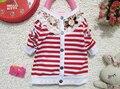 Wholesale -Kids clothing chidren's sweaters girl cardigan Girls stripe cardigan 6p/l