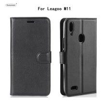 HUDOSSEN For Leagoo M11 Luxury Flip Case PU Leather Back Cover Coque For Leagoo M11 6.18 Protective Phone Housing Para цена