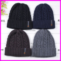 2016 Winter Mens Winter Wool Knit Hats Autumn Sport Beanies Men Warm Thick skullies Casual Caps