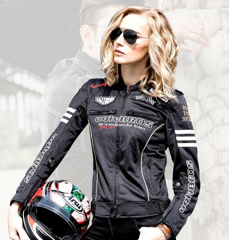 Armure de Motocross Ropa Moto Ms Uglybros Featherbed-Ubs02 veste de course de vélo en maille de Moto en Couples d'été