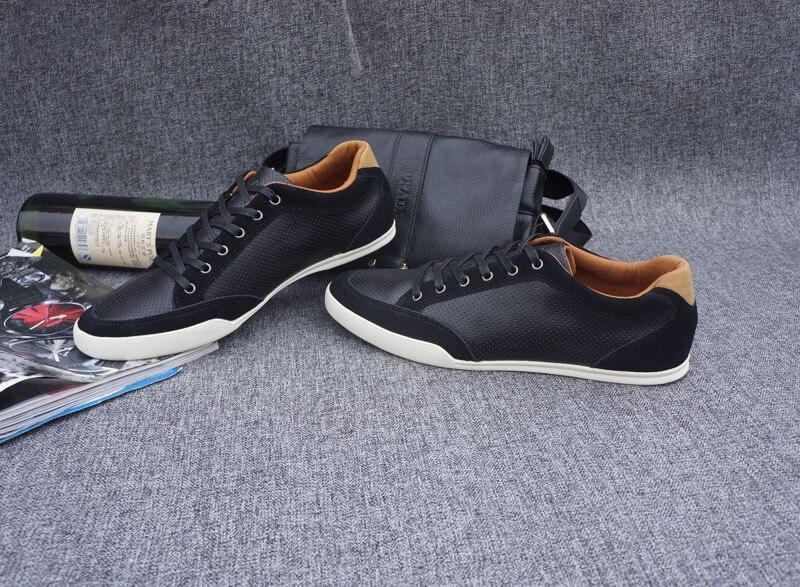 Popular Men s Shoes Flats Men Black Shoe male men shoes style Ox Fur Genuine Leather