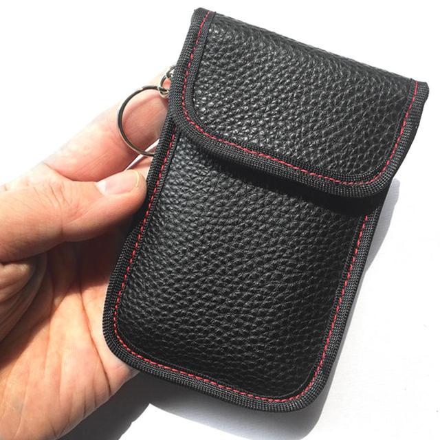Car Key Signal Blocker Case Faraday Bag Signal Blocking Shield Case Protector Pouch For Car Keys Blocking Wifi/GSM/LTE/NFC/RF