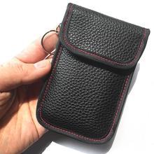 Carro chave sinal bloqueador caso saco faraday sinal bloqueio escudo caso protetor bolsa para chaves do carro que obstrui wifi/gsm/lte/nfc/rf