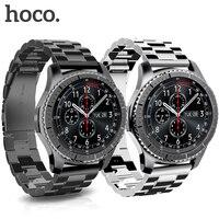 HOCO Staninless Steel Watch Band for Samsung Gear S3 Classic/Frontier Galaxy Watch 46mm Smart Watch Wrist Strap Link Bracelet
