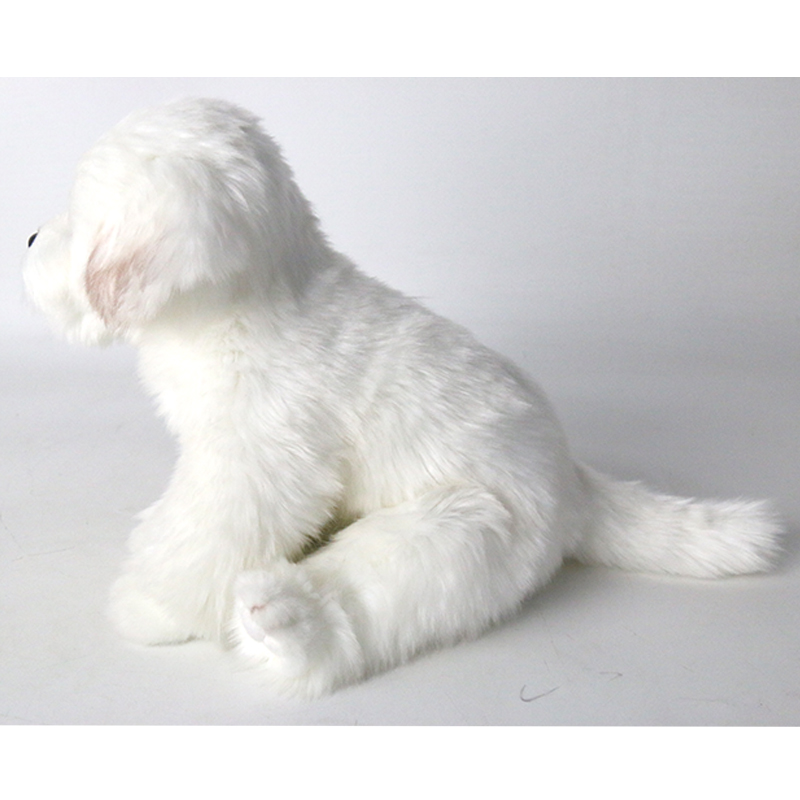 White Bichon Frise Plush Toy Cute Puppy Stuffed Dog Simulation Pet Kawaii Fluffy Baby Doll Birthday Gift for Children Photo Prop in Stuffed Plush Animals from Toys Hobbies