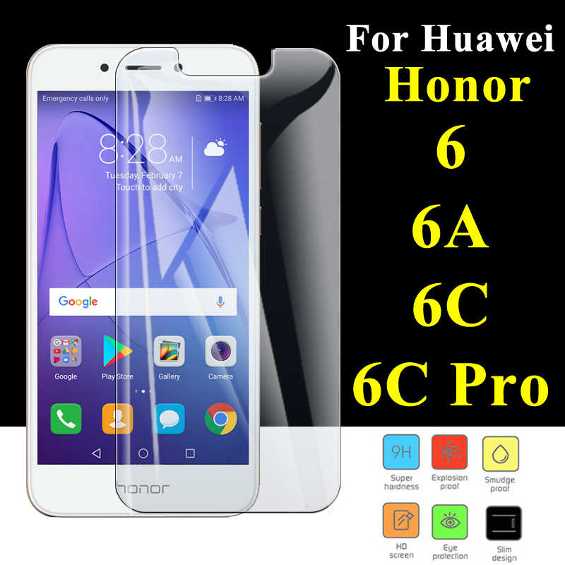 Protective glass on honor 6a 6c Pro Tempered Honer 6 A C Screen Protector C6 For Huawei Armor A6 Honor6a Nonor 6cpro Honor6 hono