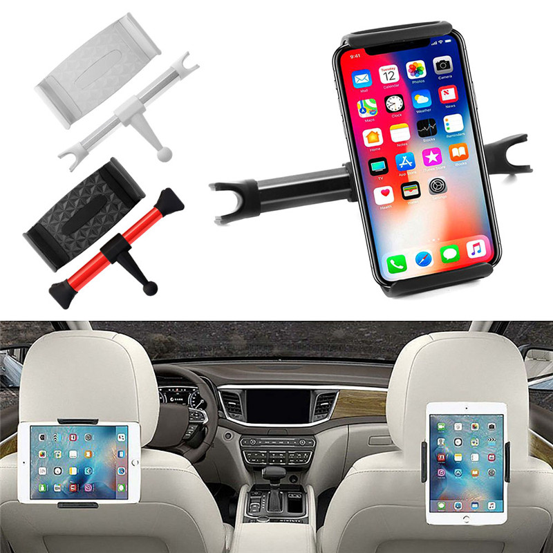 Rotating Car Rear Pillow Stand Headrest Mount Holder For 4.7-7.9 Width Device