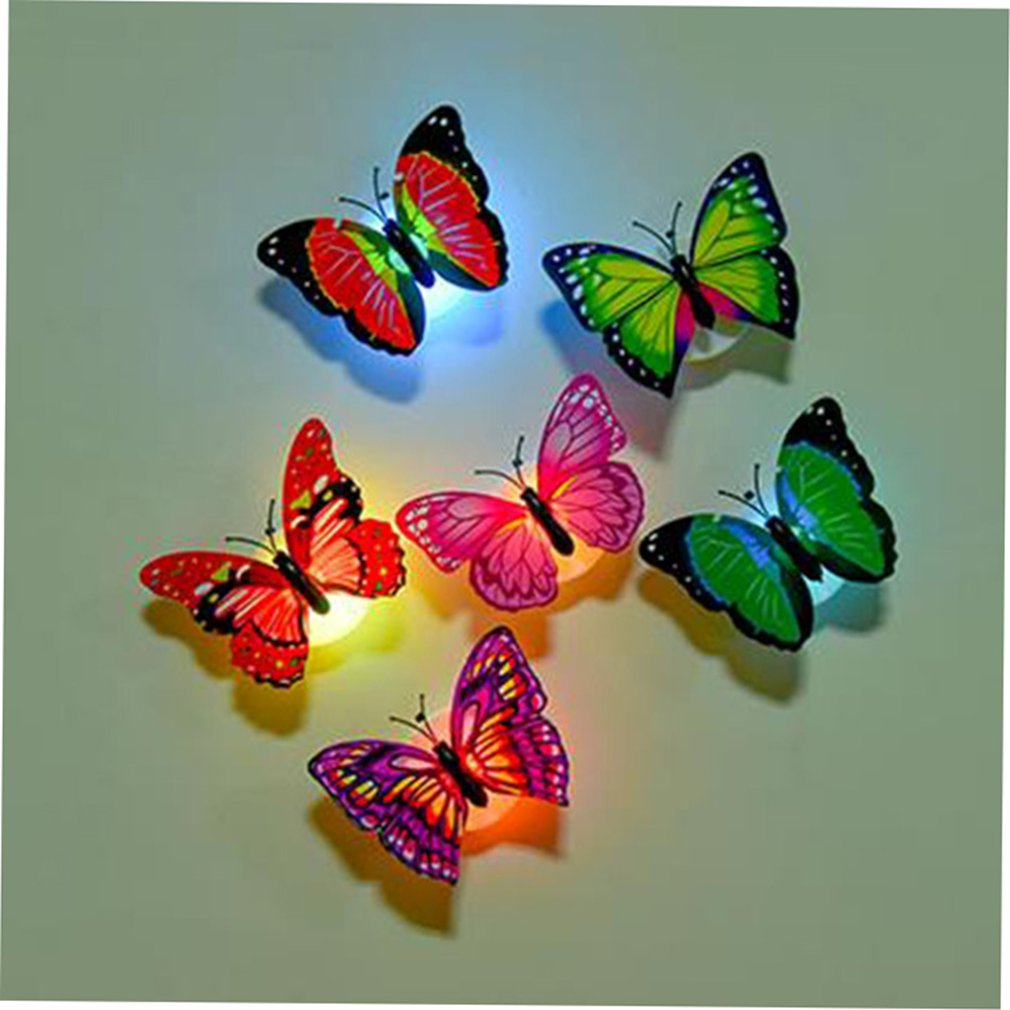 Colorful butterfly night light led decorative wall light random family familiar article of everyday use