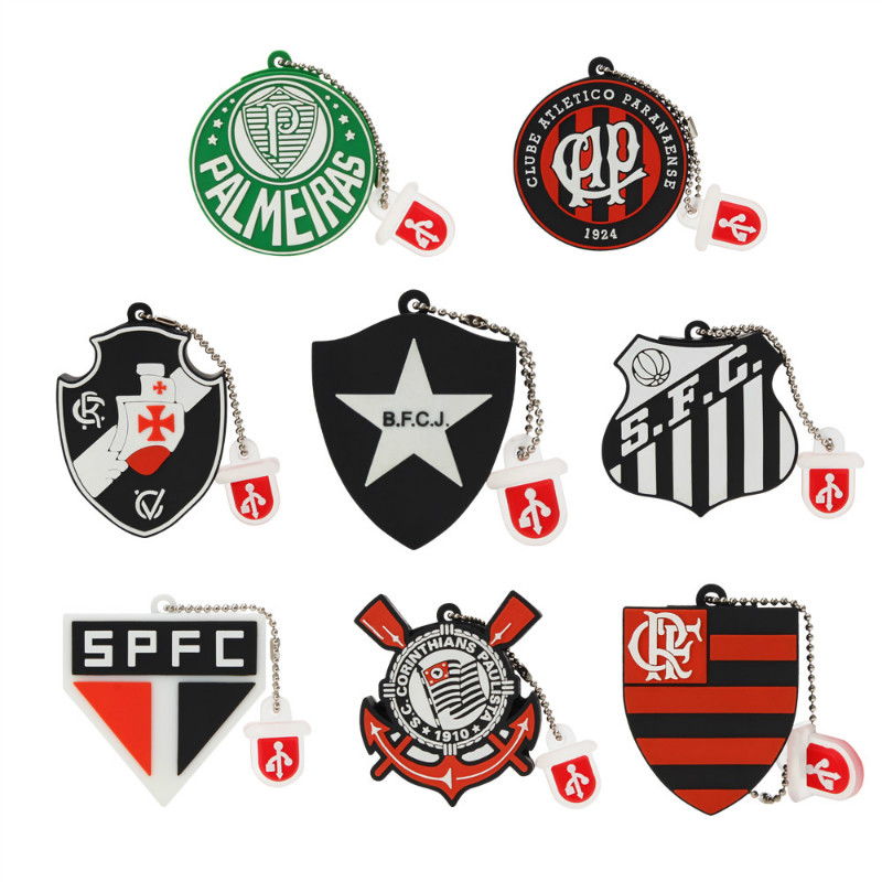 Image 1 - Popular Football Club Logo USB Flash Drive 4gb 8gb 16gb 32gb Pen Drive 64gb 128gb Flash Memory Stick High Speed Pendriv U Disk-in USB Flash Drives from Computer & Office