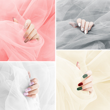 Sparkling Gauze INS Photography Backdrop Shooting Background Cloth for Beauty Fingernail Earrings Bracelet Cosmetic