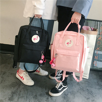 2018ins Flamingo Backpack College Wind Women's Bag Casual Student Canvas Bag Joker Small Fresh Tote Ladies rucksack
