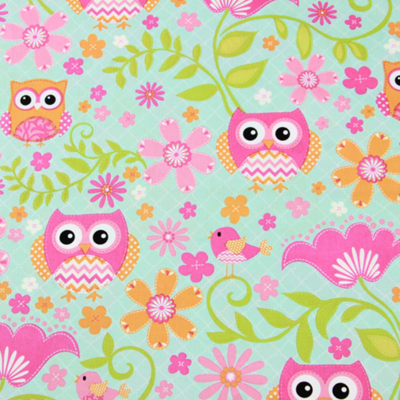 Cotton Plain Fabric By Meters Cartoon Printed Cotton Fabric DIY Quilting Patchwork Material Manual Sewing Crafts Cloth For Child in Fabric from Home Garden