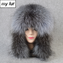 2020 Hot Sale Outdoor 100% Natural Real Fox Fur Bomber Hat Winter Warm Soft Real Fox Fur Cap Women Quality Genuine Leather Hats