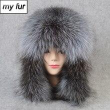 2020 heißer Verkauf Outdoor 100% Natürliche Echt Fox Pelz Bomber Hut Winter Warme Weiche Echt Fuchs Pelz Kappe Frauen Qualität echtes Leder Hüte