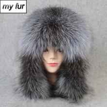 2020 venda quente ao ar livre 100% natural real raposa pele bombardeiro chapéu inverno quente macio real raposa pele boné feminino qualidade genuíno couro chapéus