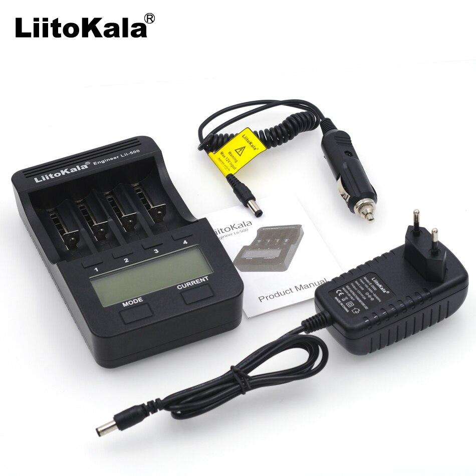 LiitoKala lii-100 Lii-202 lii-402 lii-500 18650 caricabatteria 1.2 V 3.7 V AA/AAA 26650 10440 14500 16340 18350 caricabatterie intelligente