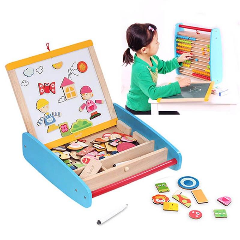 Reißbrett Zu Neue Jahr Die Magnetische Tafel mit Abacus Holzspielzeug Für Kinder Weihnachtsgeschenk für Kinder - 2