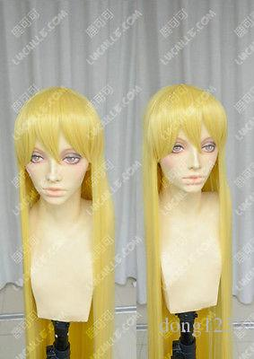 Free shipping New High Quality Fashion Picture wig >>Sailor Venus Minako Aino Sailor Moon Long Blonde Straight Cosplay Wig Hair blonde cosplay wig wholesale price cut hairstyle long striaght wig cosplay hair blonde cosplay wig
