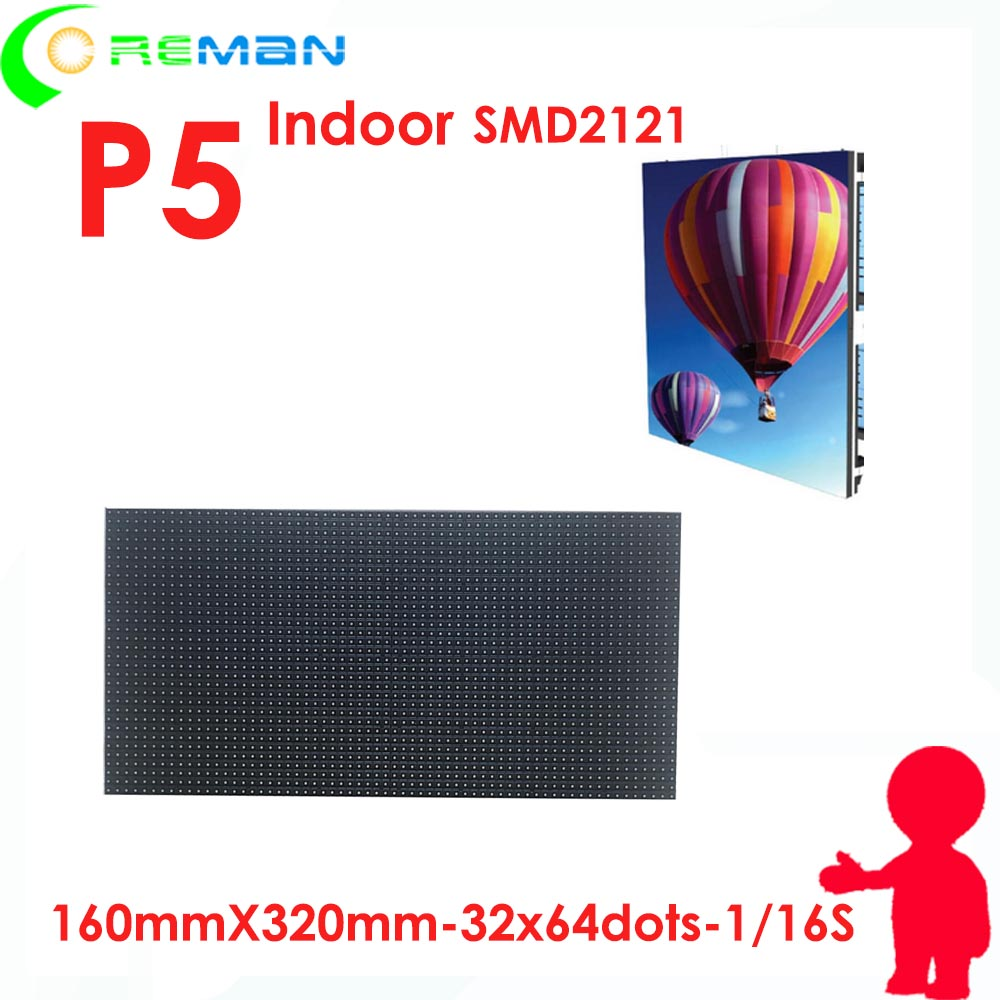 Low Cost Good Performance Smd2121 Full Color 64*32 Led Module P5 P4  / High Quality Led Panel Module P5 Indoor Rgb 32*64