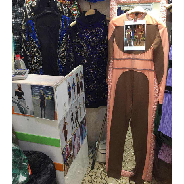 HIGH QUALITY New Fashion 2017 Designer Jumpsuit Long Sleeve Perspective Patchwork Color (As worn by the Rich & Famous)