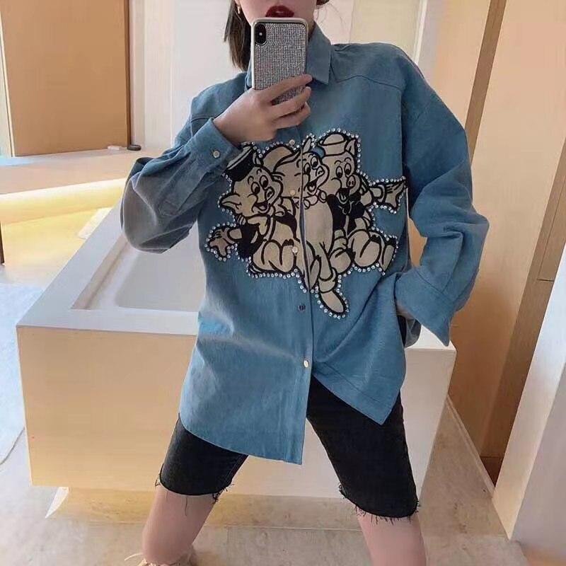 Vêtements 2019 Femmes Européenne Blousesamp; Chemises Piste Luxe Ah02860 Mode Marque Design De Partie Style lFK1JTc