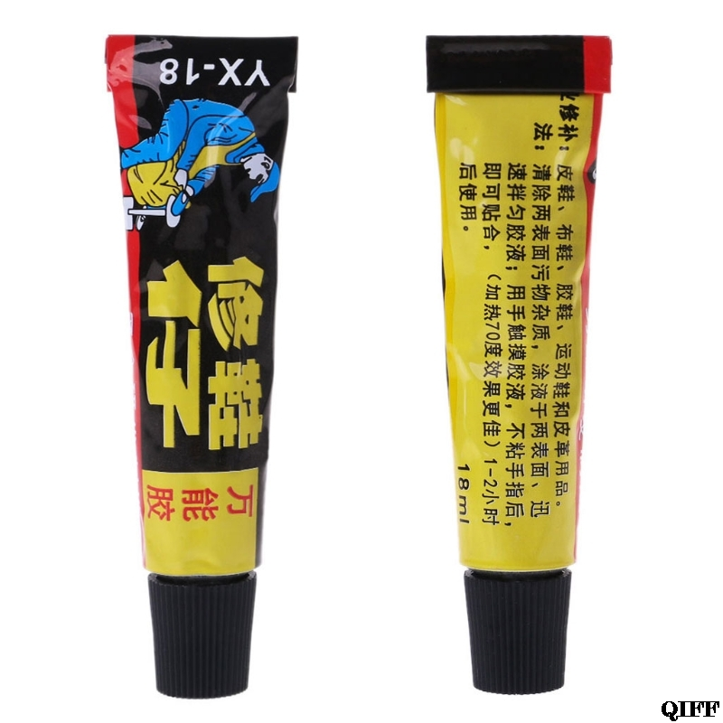 18ml Super Adhesive Repair Glue For Shoe Leather Rubber Canvas Tube Strong Bond Mar28