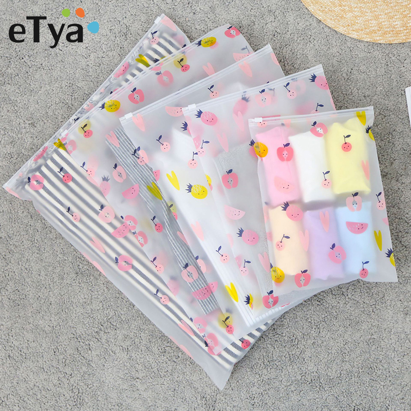 ETya Travel Organizer PVC Transparent Cosmetic Bag Waterproof Clear Makeup Bags Beauty Case Toiletry Clothes Shoes Storage Pouch