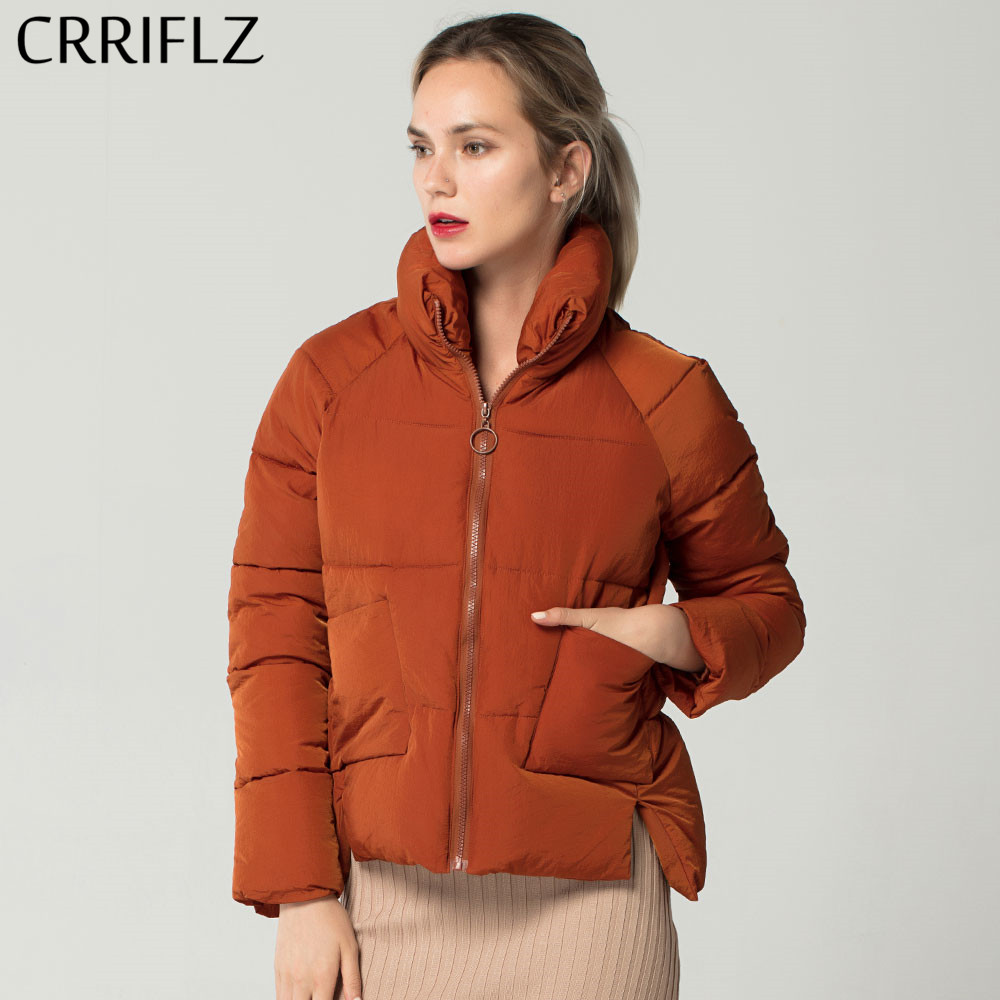 Fashion Stand Collar Warm Down   Parkas   Winter Jacket Women Slim Thick Short Female Down Jacket Coat CRRIFLZ New Winter Collection