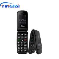 Оригинальный YINGTAI T16 GSM флип старший двойной экран телефона Китай для старшего скорость набрать один ключ SOS раскладушка 2G FM настроить Язык