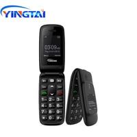 Original YINGTAI T16 GSM flip senior dual screen china phone for Elder speed dial one key SOS clamshell 2G FM customize Language