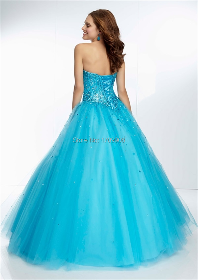 New Arrival Ball Gown Prom Dress 2015 Sweetheart Sparkling Crystal ...