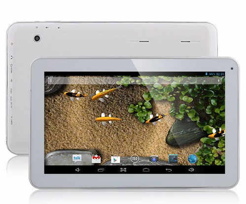 Free Shipping 3D  GDIPPO K1001 Tablet PC Qual Core  10.1  Inch Q88 AM1008   Android 4.4 8GB HDMI LEVEN   White