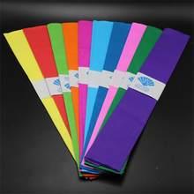 10 pçs/lote Mix Alta Qualidade Origami Dobre Plissados Crepe Embrulho Flor de Papel Ofício DIY Scrapbooking Decoração Do Partido Presente