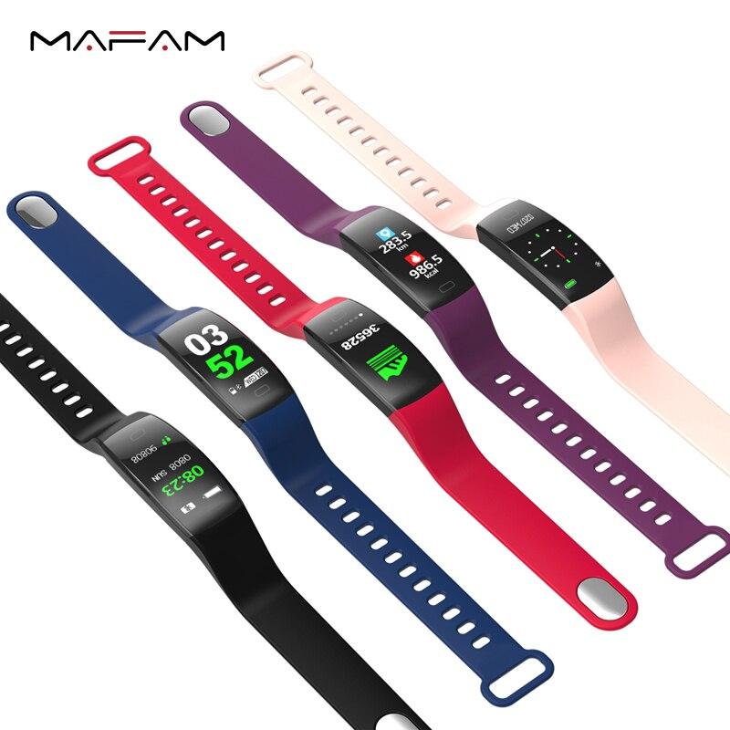 MAFAM F64 HD Display Smart Wristband Bluetooth Music Control 30 Meters Waterproof USB Fast Charge Passometer Sleep Tracker