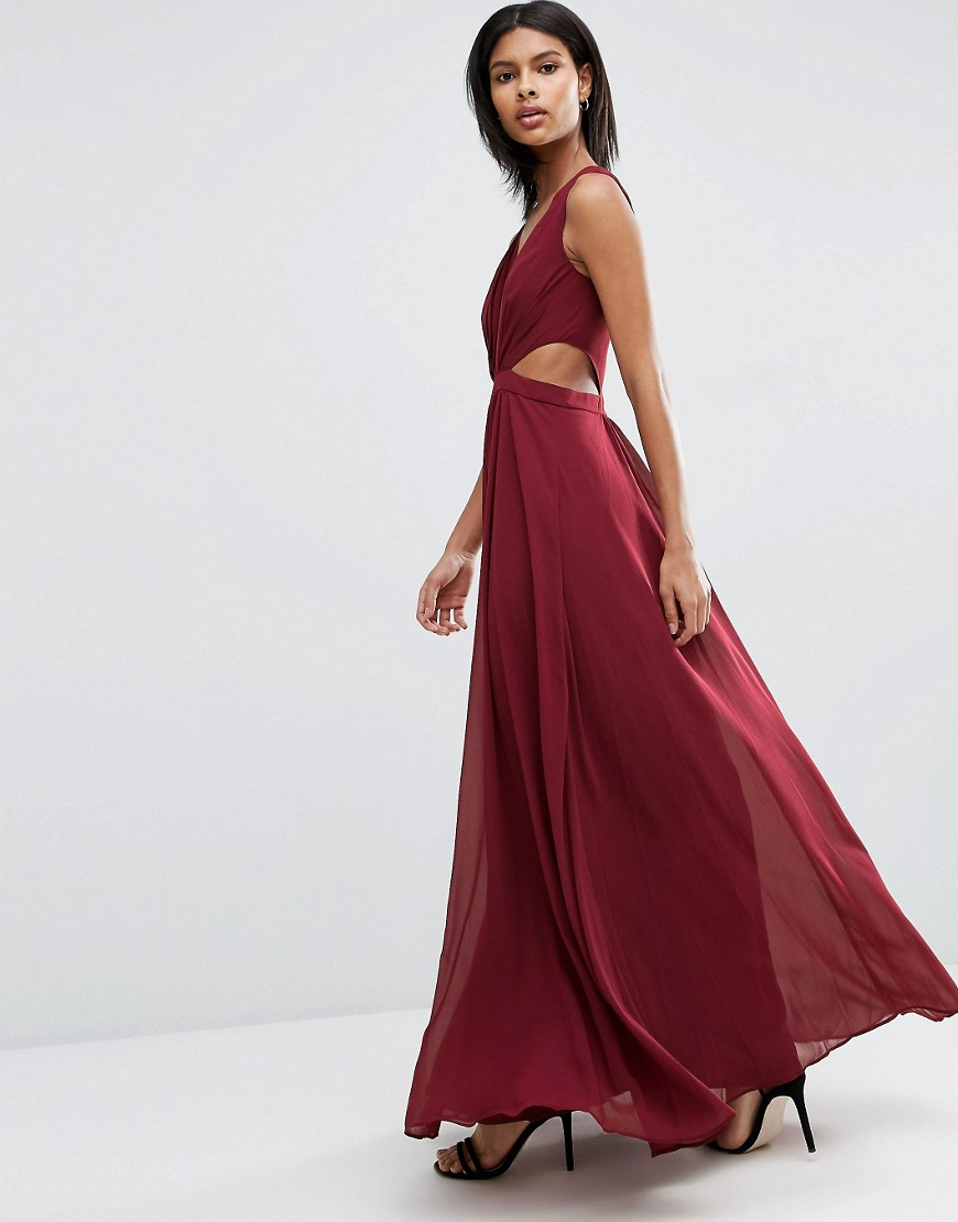 Burgundy Prom Dresses Elegant Women Vestidos V Neck A Line Dress Long  Evening Gowns Sexy Chiffon Girl Prom Party Dresses RP05-in Prom Dresses  from Weddings ... 2eb6608065ed