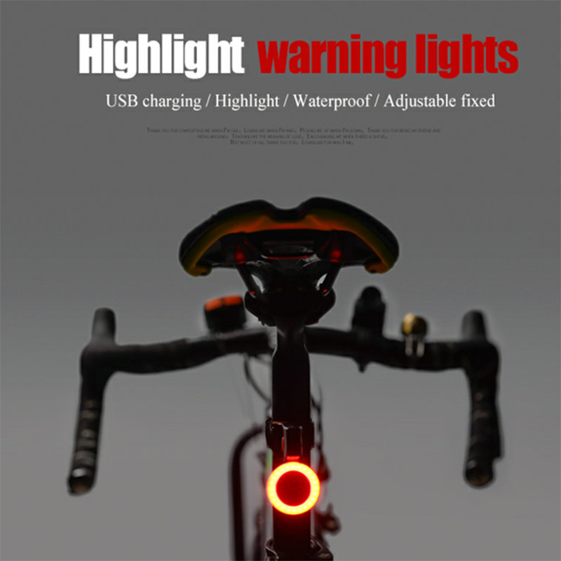 Bike Tail Light Waterproof Night Cycling Light LED Red Warning Lights Bicycle Seat Back Heart-shaped Lamp Bicycle Accessories heart shaped rgb led night light 3 ag13