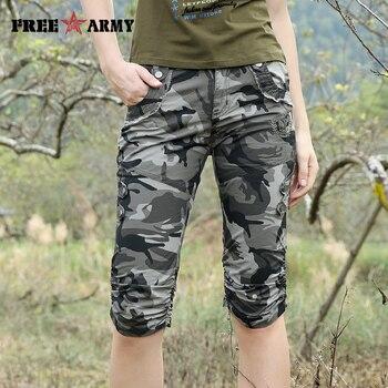 Women Combat Tactical Capris Camouflage Jogger Pants New 2017 Camo Print Sweatpants Joggers Casual Cargo Pants Plus Size 26-31 2