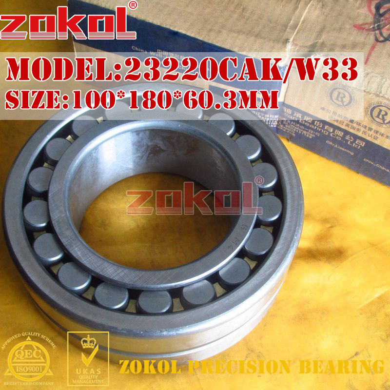 ZOKOL bearing 23220CAK W33 Spherical Roller bearing 3153220HK self-aligning roller bearing 100*180*60.3mm zokol bearing 23036ca w33 spherical roller bearing 3053136hk self aligning roller bearing 180 280 74mm