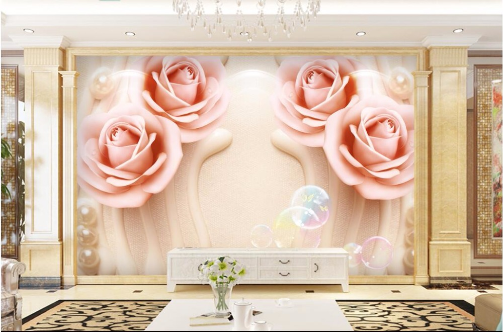 WDBH custom mural 3d photo wallpaper Flower pearl TV background wall living room picture 3d wall murals wallpaper for walls 3 d custom photo 3d wall murals wallpaper mountain waterfalls water decor painting picture wallpapers for walls 3 d living room